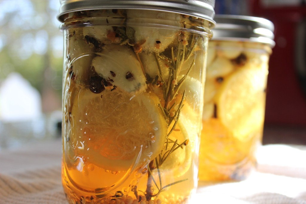 Lemon Herb Pickled Garlic